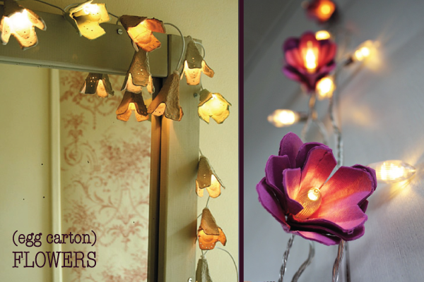 Diy Floral String Lights : String Light Decor New deja Vu